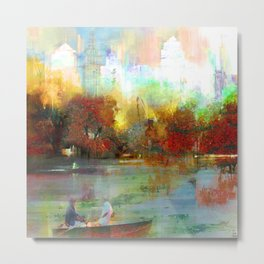 Afternoon autumnal in Central Park Metal Print