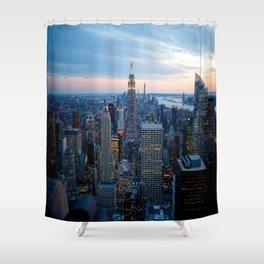 New York City Dusk Shower Curtain