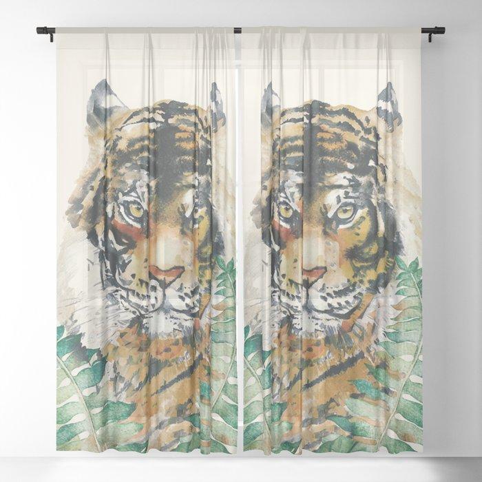 Tiger Sheer Curtain