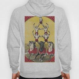 Vintage Circus Art with Acrobats Hoody