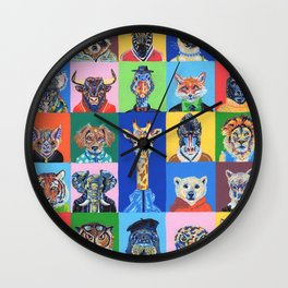 Collage animales Wall Clock