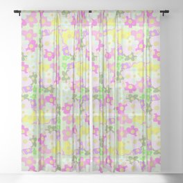 Celeste's Magical Flowers Sheer Curtain