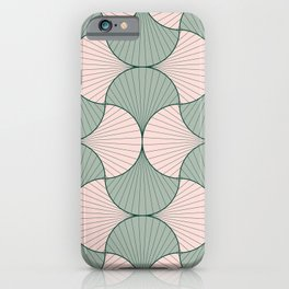 Sage and Blush Vintage Geometric Scales iPhone Case