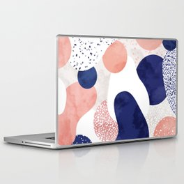 Terrazzo galaxy pink blue white Laptop & iPad Skin