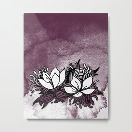 Flower Tangle Metal Print