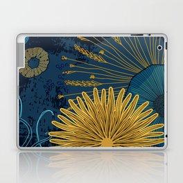 Navy floral background Laptop & iPad Skin