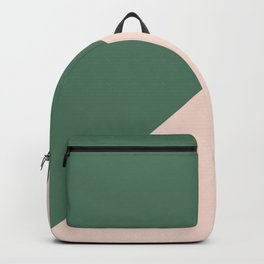 Soft Pink & Army Green - oblique Backpack