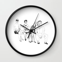 summer day on the bench Wall Clock