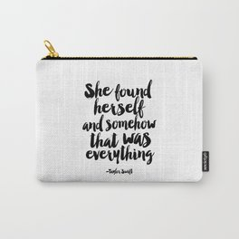 PRINTABLE Art,Quote,Girls Room Decor,Home Decor,Typography Art,girls room decor Carry-All Pouch