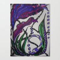 under the sea Canvas Prints featuring Under Sea by BlueMuseStudio7