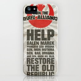 Join the Rebel Alliance iPhone Case