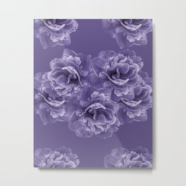 Ultra Violet Peony Flower Bouquet #1 #floral #decor #art #society6 Metal Print