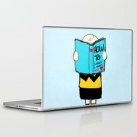 snoopy Laptop & iPad Skins featuring How to conquer a woman's heart by Alexandre Reis