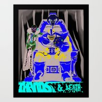 thanos Art Prints featuring Thanos and Death by Yo Soy Tolentino