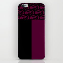 Abstract combo black and Burgundy decor iPhone Skin