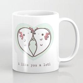 I like you a lotl axolotls Coffee Mug