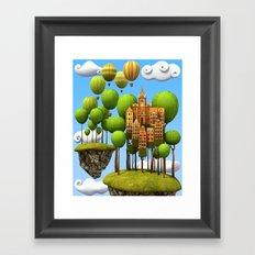 New City in the Sky Framed Art Print