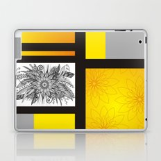 Sunflower Doodle on bright bold background Laptop & iPad Skin