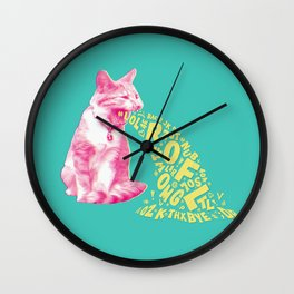 Word Vomit Wall Clock