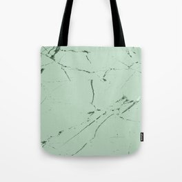 mint green modern marble Tote Bag