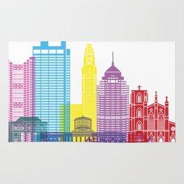 Columbus skyline pop Rug