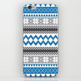 Winter Blue Pattern iPhone Skin
