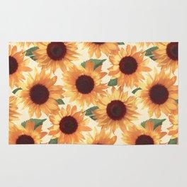 Happy Orange Sunflowers Rug