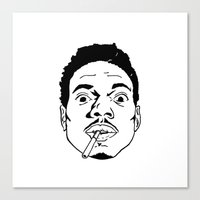 chance the rapper Canvas Prints featuring Chance the Rapper  by tumblrian