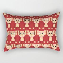 Super cute animals - Cheeky Red Monkey Rectangular Pillow