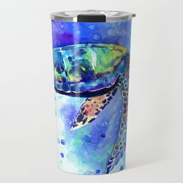 Sea Turtle, Underwater Scene Travel Mug