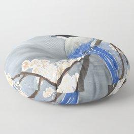 Blue Magpie Floor Pillow