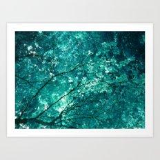 Sea of leaves Art Print