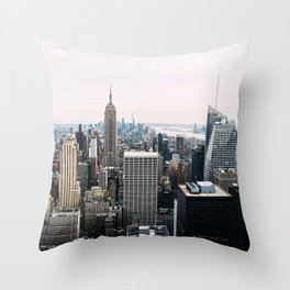 New York skyline from Top of the Rock Throw Pillow