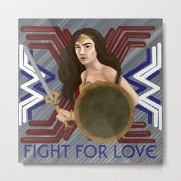 Fight For Love Metal Print