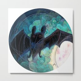 Round Bat Metal Print