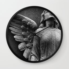 Female Angel Looking Upwards #faith #Christmas Wall Clock