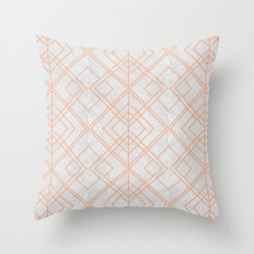 Art Deco Lines Pattern Throw Pillow