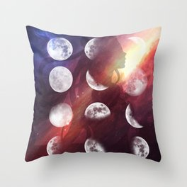 Moon Goddess Selene Throw Pillow