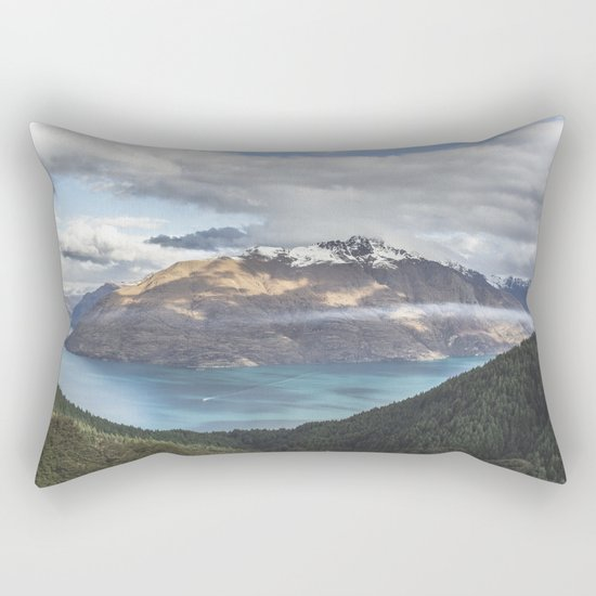 Mountains & Blue water Rectangular Pillow