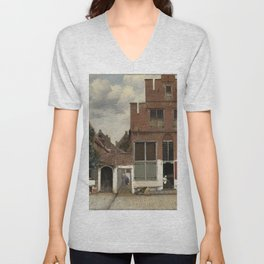 Johannes Vermeer - View of Houses in Delft, Known as 'The Little Street' Unisex V-Neck