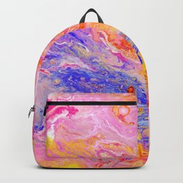 Pink and Yellow Abstract Backpack