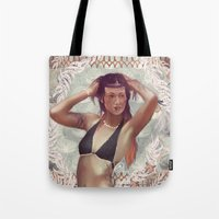venus Tote Bags featuring VENUS by Galvanise The Dog