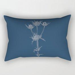 Milk Thistle Blueprint Rectangular Pillow