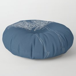 Agapanthus Blueprint Floor Pillow