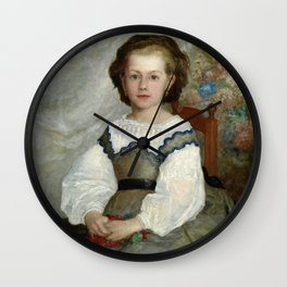 Pierre-Auguste Renoir - Mademoiselle Romaine Lascaux - Digital Remastered Edition Wall Clock