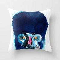 werewolf Throw Pillows featuring werewolf by Alvaro Tapia Hidalgo