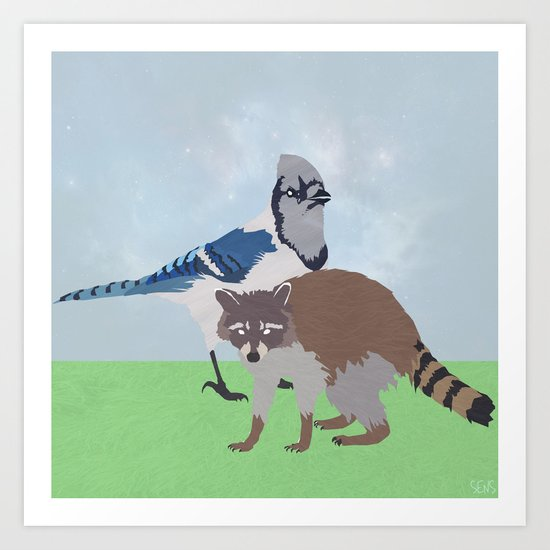 Mordecai and Rigby Art Print