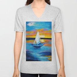 Sailing Away Unisex V-Neck