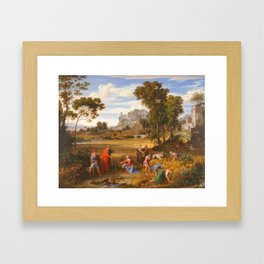 Joseph Anton Koch (Austrian, 1768–1839) Landscape with Ruth and Boaz, ca. 1823–25 Framed Art Print