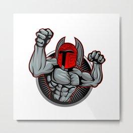 Spartan Trojan illustration. Metal Print